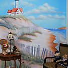 My lighthouse mural by Marjorie Wallace