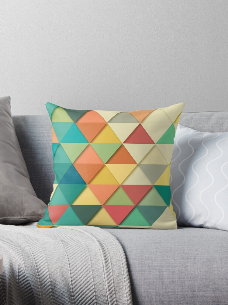 Colorful triangle repeat  by SteviePix