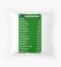 Kalgoorlie Highway 1 Throw Pillow