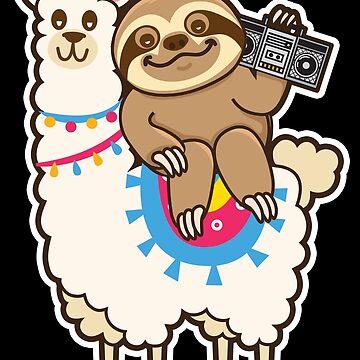 Cute Sloth llama! by plushism