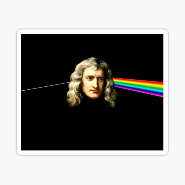 The Dark side of Isaac Newton Sticker