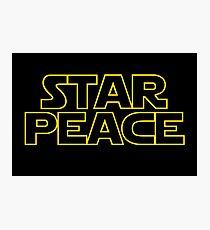 STAR PEACE (Star Wars funny parody) Photographic Print