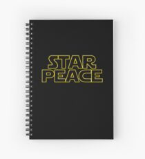 STAR PEACE (Star Wars funny parody) Spiral Notebook