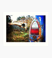 Zepher @ auto grave yard Art Print