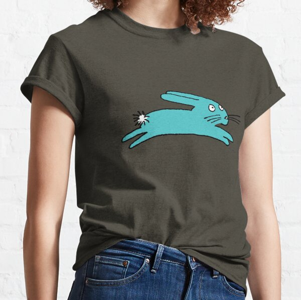 Turquoise Leaping Bunny Classic T-Shirt