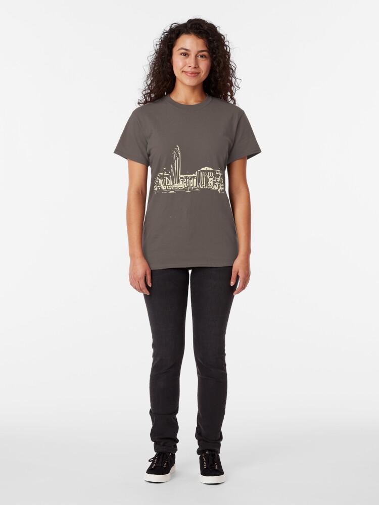 Alternate view of helsinki railway station building pattern  beige Classic T-Shirt