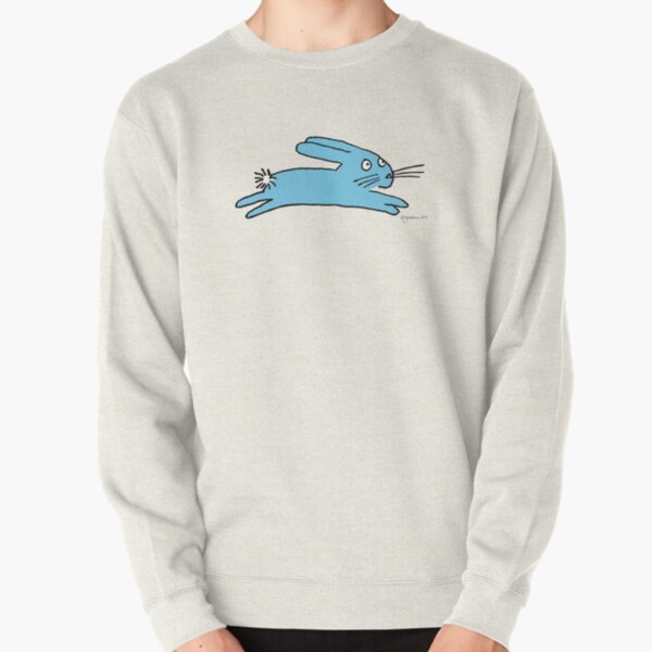 Blue Leaping Bunny Pullover Sweatshirt