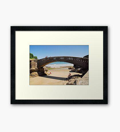 Bridge near Port-Vieux of Biarritz Framed Print
