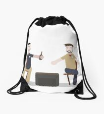 Half in the Bag Drawstring Bag
