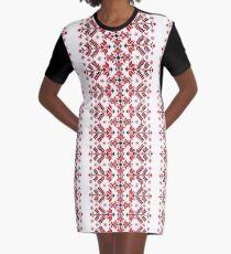 Ukraine national pattern - Vyshyvanka Graphic T-Shirt Dress