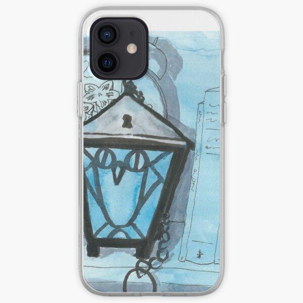 Bryn Mawr Light Blue Owl Lantern iPhone Soft Case