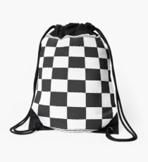 Chessboard Drawstring Bag