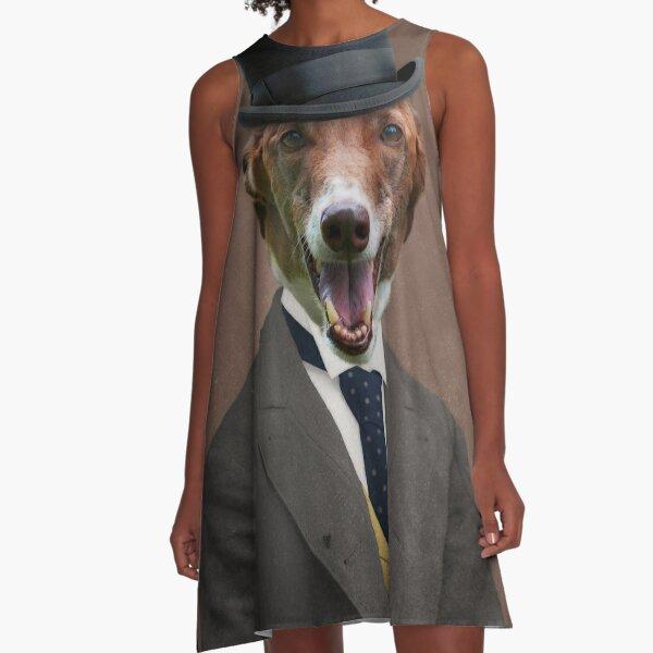 Greyhound Art - Happy Ben A-Line Dress