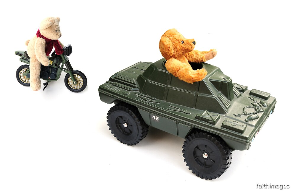 Teddies go to war by faithimages