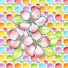 Polka Dot Blossoms by PatriciaSheaArt
