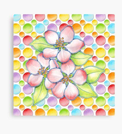 Polka Dot Blossoms Canvas Print