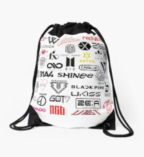 kpop groups Drawstring Bag