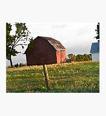 Little Red Barn On The Hill Photographic Print