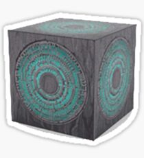3d model of pandorica Sticker