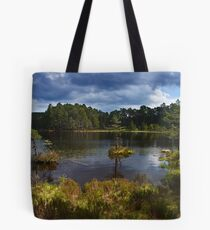 Loch an Eilean, in Rothiemurchus Forest Tote Bag