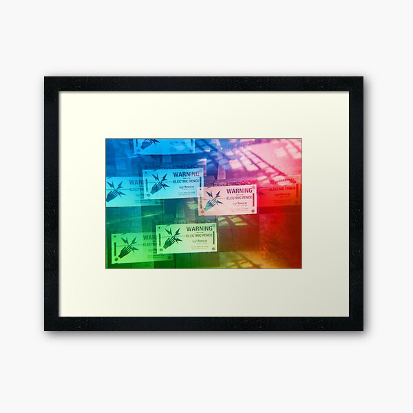 Warning Electric Framed Art Print