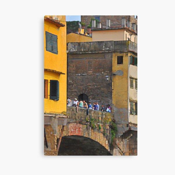 A Bridge across the Arno Canvas Print