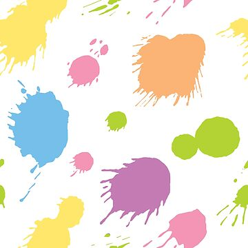 Blot Pattern - Colorful Splashes by gifrancis