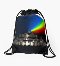 My Castle in the Sky Drawstring Bag