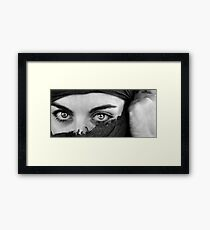 The world in your eyes Framed Print