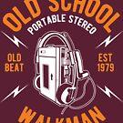 Walkman Old School T-shirt by artbaggage