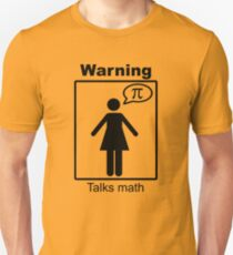 Warning: Talks math (skirt) Unisex T-Shirt