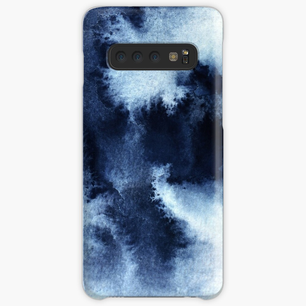 Indigo Nebula, Blue Abstract Painting Case & Skin for Samsung Galaxy