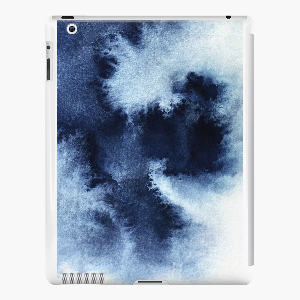 Indigo Nebula, Blue Abstract Painting iPad Cases & Skins