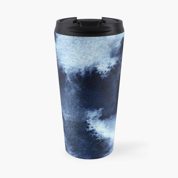 Indigo Nebula, Blue Abstract Painting Travel Mug