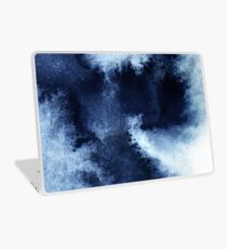 Indigo Nebula, Blue Abstract Painting Laptop Skin