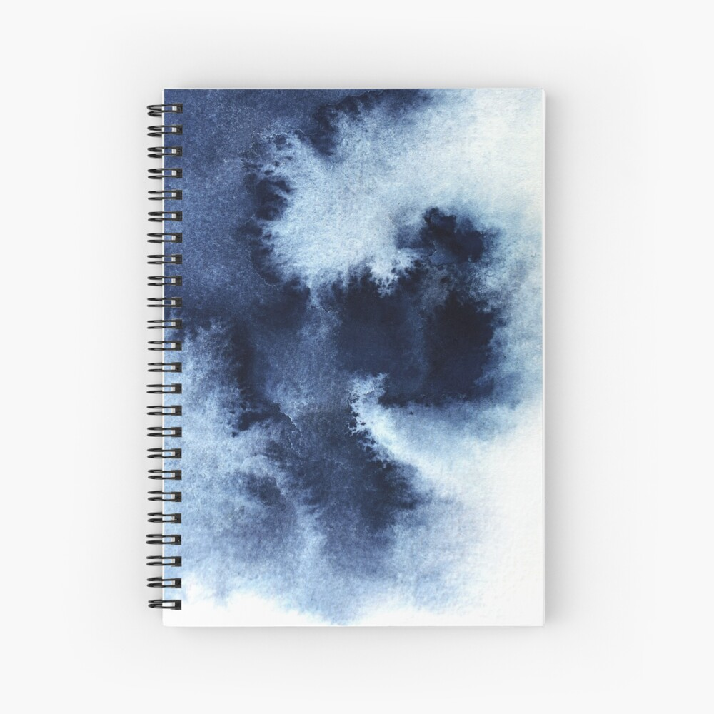 Indigo Nebula, Blue Abstract Painting Spiral Notebook