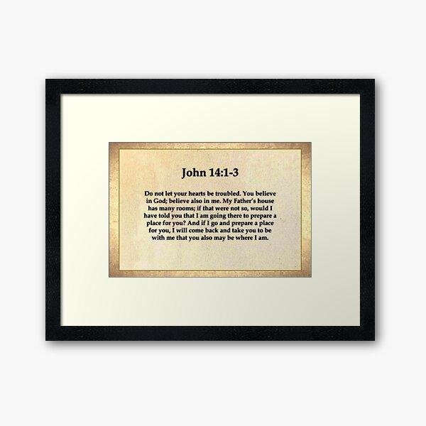 John 14:1-3 Framed Art Print