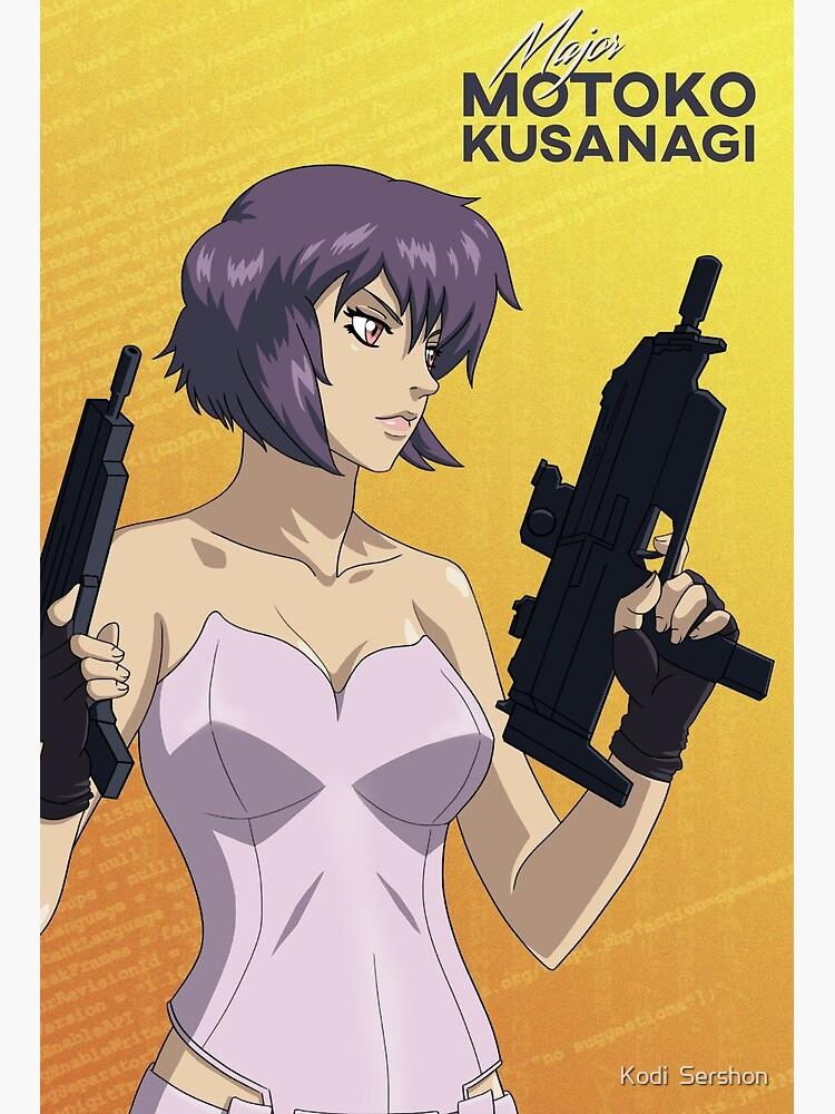 Ghost In The Shell Major Motoko Kusanagi Original Anime Fan Art Art Board Print By Kodisershon Redbubble
