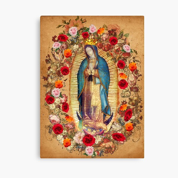 Our Lady of Guadalupe Virgin Mary Catholic Mexico Poster Canvas Print
