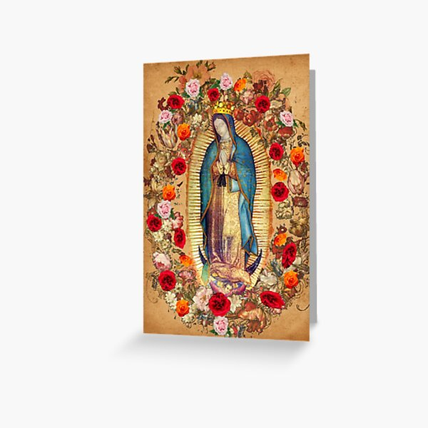 Our Lady of Guadalupe Virgin Mary Catholic Mexico Poster Greeting Card