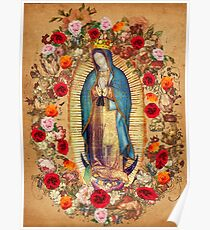 Our Lady of Guadalupe Virgin Mary Catholic Mexico Poster Poster
