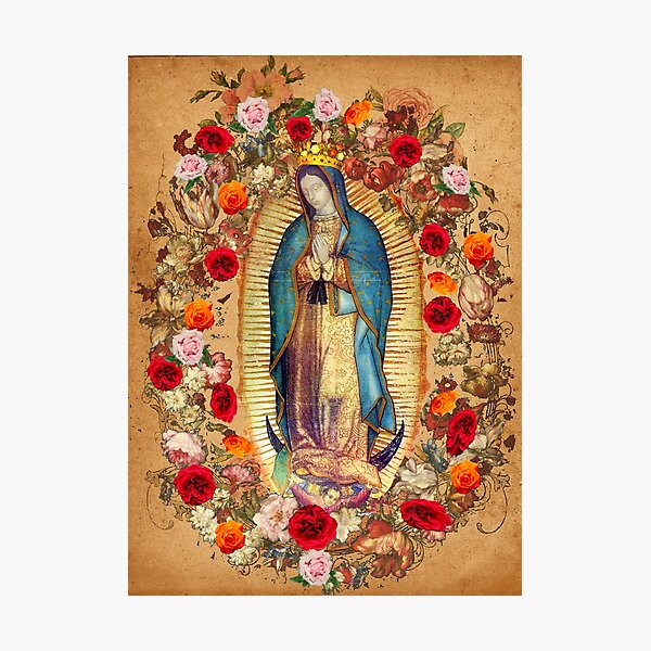 Our Lady of Guadalupe Virgin Mary Catholic Mexico Poster Photographic Print