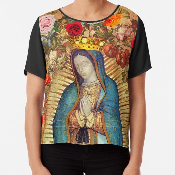 Our Lady of Guadalupe Virgin Mary Catholic Mexico Poster Chiffon Top