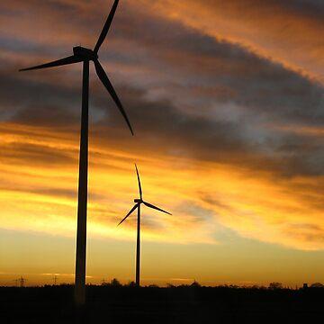 Sunrise Windfarm by jbrancinaed