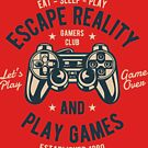 Gamers Club Old School T-shirt by artbaggage