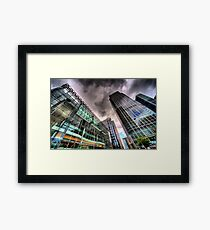 Canary Wharf, London in HDR Framed Print