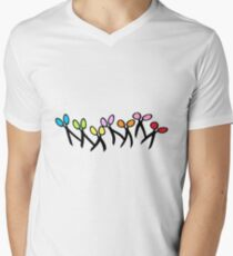 Dancing Scissors T-Shirt Men's V-Neck T-Shirt