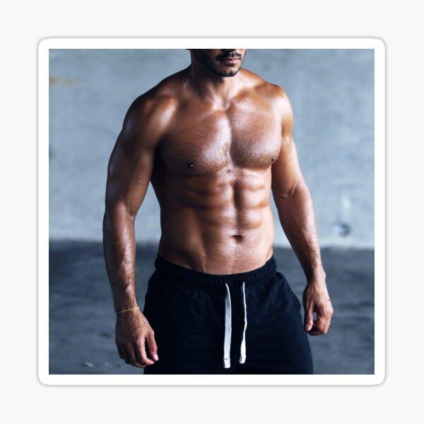 Hombre sexy cuerpo musculoso | hombre caliente sin camisa Pegatina