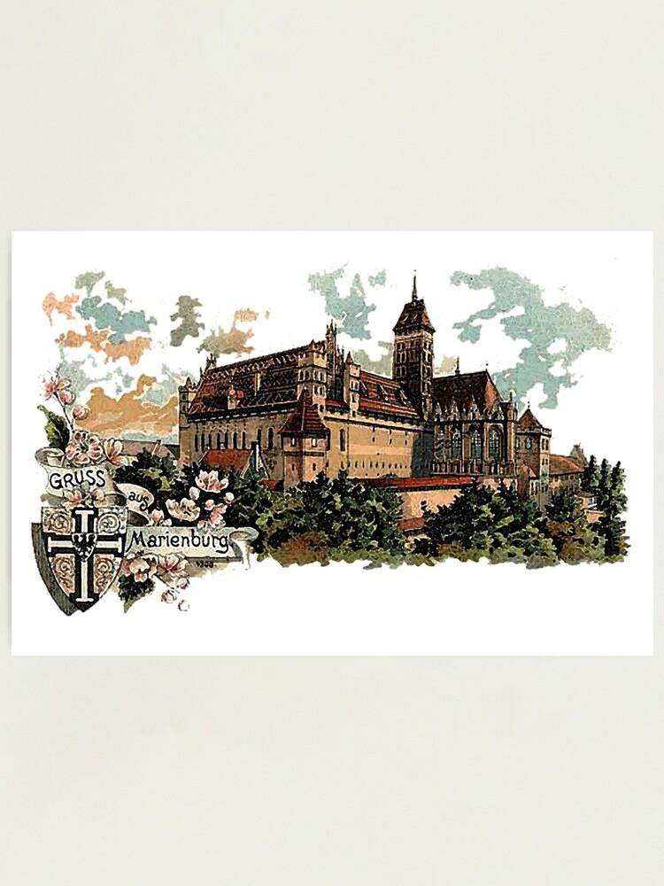 Alternate view of Marienburg Castle, Teutonic Knights Headquarters Photographic Print