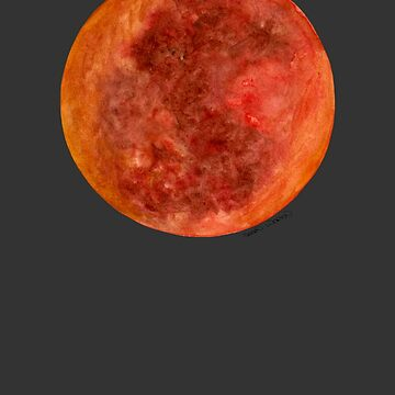 Blood Moon Eclipse by SerenSketches